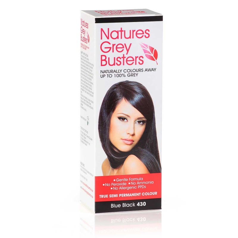 Natures Grey Busters Natural Blue Black 430 Hair Colour