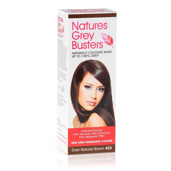 Natures Grey Busters Dark Natural Brown 423 Hair Colour